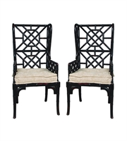 Picture for category Guild Master 659522PWMLB Bamboo Chairs 24in Black Mahogany