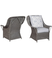 Picture for category Guild Master 693501P Retreat Chairs 33in Gray Rattan