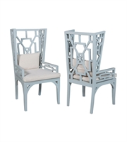 Picture for category Guild Master 694010P Manor Chairs 24in Blue Mahogany