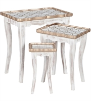 Picture for category Guild Master 715056S Saber Tables 23in Front Porch White Mahogany Solid Wood