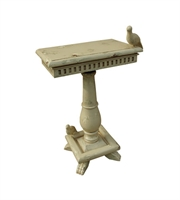 Picture for category Guild Master 719067CR Socle Tables 20in Cream Wood