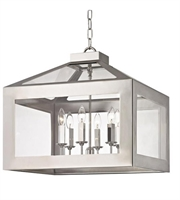 Picture for category Crystorama 6056-PN Hurley Chandeliers 20in Polished Nickel Glass Steel 6-light