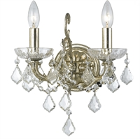 Picture for category Crystorama 5282-OS-CL-S Highland park Wall Sconces 13in Olde Silver Steel