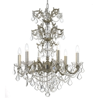 Picture for category Crystorama 5286-OS-CL-MWP Highland park Chandeliers 25in Olde Silver Steel