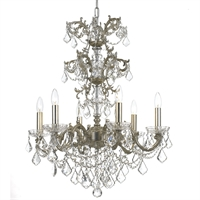 Picture for category Crystorama 5286-OS-CL-S Highland park Chandeliers 25in Olde Silver Steel