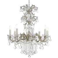 Picture for category Crystorama 5288-OS-CL-MWP Highland park Chandeliers 28in Olde Silver Steel