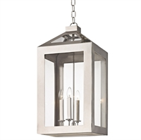 Picture for category Crystorama 6054-PN Hurley Chandeliers 14in Polished Nickel Glass + Steel