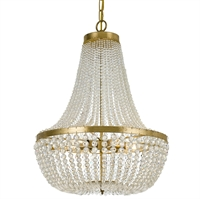 Picture for category Crystorama 608-GA Rylee Chandeliers 18in Antique Gold Steel 6-light