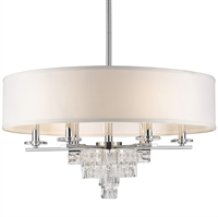 Picture for category Crystorama 6836-CH Addison Chandeliers 25in Polished Chrome Wrought Iron
