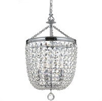 Picture for category Crystorama 785-CH-CL-MWP Archer Chandeliers 14in Polished Chrome Steel 5-light
