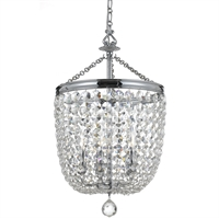 Picture for category Crystorama 785-CH-CL-SAQ Archer Chandeliers 14in Polished Chrome Steel 5-light