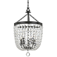 Picture for category Crystorama 785-VZ-CL-SAQ Archer Chandeliers 14in Polished Chrome Steel 5-light