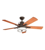 Picture for category Kichler 300024OZ Lacey II Ceiling Fans 52in Olde Bronze Steel 1-light