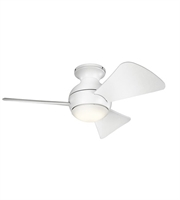 Picture for category Kichler 330150MWH Sola Ceiling Fans 34in Matte White Steel 1-light