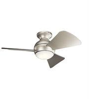 Picture for category Kichler 330150NI Sola Ceiling Fans 34in Brushed Nickel Steel 1-light