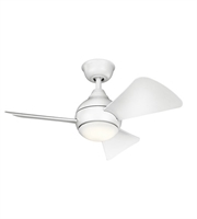Picture for category Kichler 337033MWH Cooltouch Lighting Accessories 7in Matte White Steel