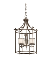 Picture for category Kichler 43139MIZ Tallie Chandeliers 20in Mission Bronze Steel 3-light