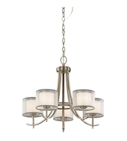 Picture for category Kichler 43149AP Tallie Chandeliers 24in Antique Pewter Steel 5-light