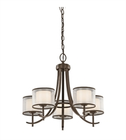 Picture for category Kichler 43149MIZ Tallie Chandeliers 24in Mission Bronze Steel 5-light
