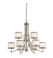 Picture for category Kichler 43150AP Tallie Chandeliers 32in Antique Pewter Steel 9-light