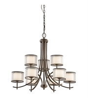 Picture for category Kichler 43150MIZ Tallie Chandeliers 32in Mission Bronze Steel 9-light