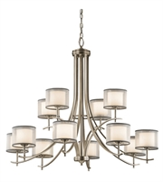 Picture for category Kichler 43151AP Tallie Chandeliers 42in Antique Pewter Steel 12-light