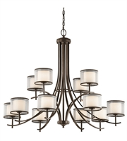 Picture for category Kichler 43151MIZ Tallie Chandeliers 42in Mission Bronze Steel 12-light
