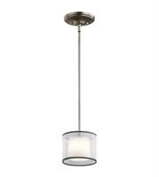 Picture for category Kichler 43152AP Tallie Mini Pendants 6in Antique Pewter Steel 1-light