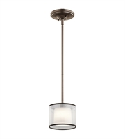 Picture for category Kichler 43152MIZ Tallie Mini Pendants 6in Mission Bronze Steel 1-light