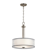 Picture for category Kichler 43153AP Tallie Pendants 18in Antique Pewter Steel 3-light