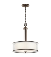 Picture for category Kichler 43153MIZ Tallie Pendants 18in Mission Bronze Steel 3-light
