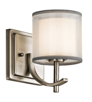 Picture for category Kichler 45449AP Tallie Wall Sconces 5in Antique Pewter Steel 1-light