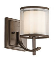 Picture for category Kichler 45449MIZ Tallie Wall Sconces 5in Mission Bronze Steel 1-light