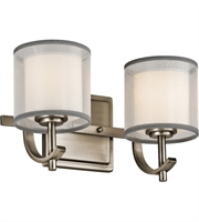 Picture for category Kichler 45450AP Tallie Bath Lighting 13in Antique Pewter Steel 2-light