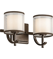 Picture for category Kichler 45450MIZ Tallie Bath Lighting 13in Mission Bronze Steel 2-light