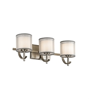 Picture for category Kichler 45451AP Tallie Bath Lighting 21in Antique Pewter Steel 3-light
