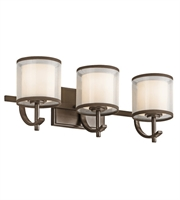 Picture for category Kichler 45451MIZ Tallie Bath Lighting 21in Mission Bronze Steel 3-light