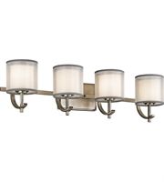 Picture for category Kichler 45452AP Tallie Bath Lighting 29in Antique Pewter Steel 4-light