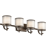Picture for category Kichler 45452MIZ Tallie Bath Lighting 29in Mission Bronze Steel 4-light