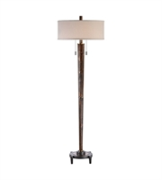 Picture for category Uttermost 28119-1 Rhett Floor Lamps 20in Burnished Oak Steel+Rubber Wood