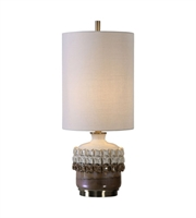Picture for category Uttermost 29352-1 Elsa Table Lamps 11in Ceramic Steel & Ceramics Fabric 1-light
