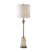 Picture for category Uttermost 29367-1 Flaiana Table Lamps 10in Antique Brass Glass Steel Fabric