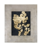 Picture for category Uttermost 41569 Custom Postage Leaes Decor 40in Gold Mdf Glass Paper