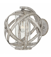 Picture for category Hinkley 29700WZ Carson Wall Sconces 10in Weathered Zinc Metal 1-light