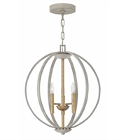 Picture for category Hinkley 3463CG Euclid Pendants 20in Cement Gray Steel 3-light