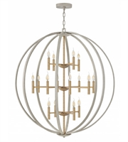 Picture for category Hinkley 3464CG Euclid Chandeliers 44in Cement Gray Steel 16-light