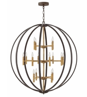 Picture for category Hinkley 3464SB Euclid Chandeliers 44in Spanish Bronze Steel 16-light