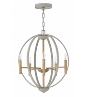 Picture for category Hinkley 3466CG Euclid Chandeliers 21in Cement Gray Steel 6-light