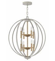 Picture for category Hinkley 3468CG Euclid Pendants 28in Cement Gray Steel 8-light