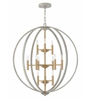 Picture for category Hinkley 3469CG Euclid Pendants 36in Cement Gray Steel 12-light